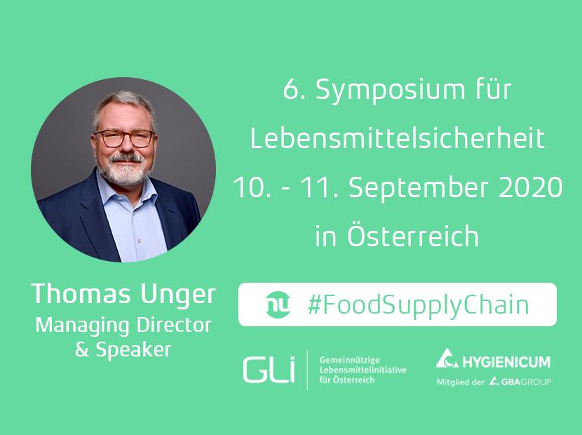 6. Symposium für Lebensmittelsicherheit 10. - 11. September 2020, in Österreich