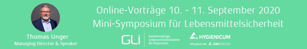 Teaser: Online-Vorträge Mini-Symposium für Lebensmittelsicherheit 10. - 11. September 2020,