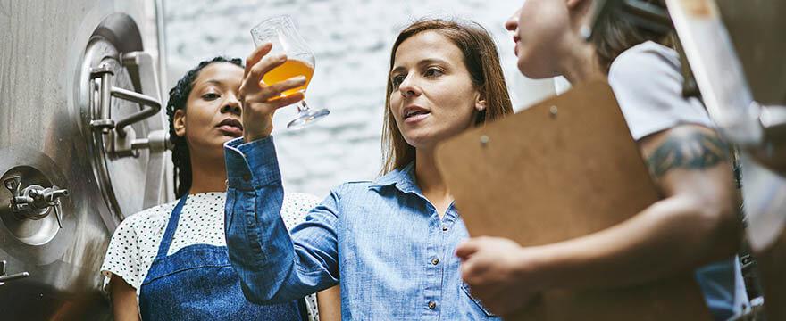 Bier-Analyse in der Produktion